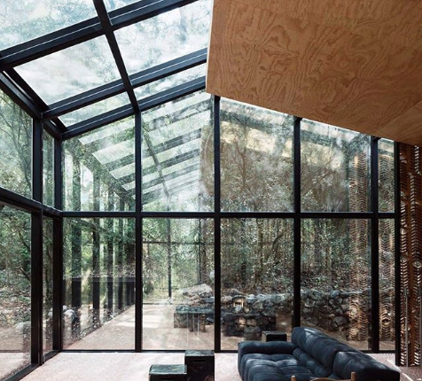 glass all over the house